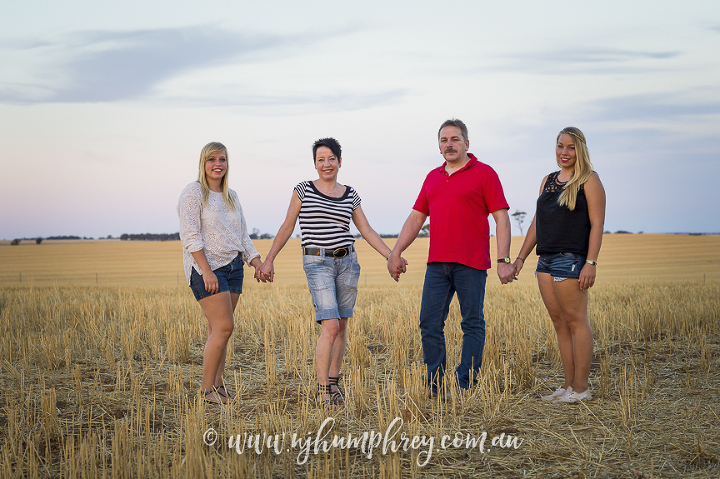 Marie & her family in Oz | Family Portrait Photographer York Western Australia